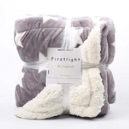 Ważona flanelowy koc z polarem zima dorosłych miękkie grube koc typu sherpa dla Sofa łóżko kanapa Frazadas Mantas De Cama Cobert