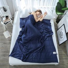 SunnyRain 1-częściowy ważony koc dla dorosłych grawitacji koce dekompresji pomoc snu ciśnienia ważonej kołdra