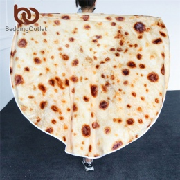 BeddingOutlet meksykańskie Burrito koc 3D kukurydzy Tortilla flanelowe koc na łóźko polar rzut śmieszne pluszowe narzuty hurtown
