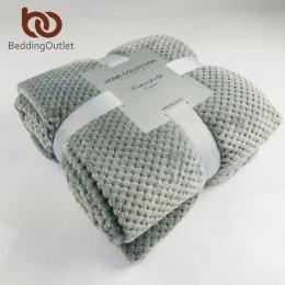 BeddingOutlet flanelowe koc polarowy miękkie koc podróżny jednolity kolor narzuta pluszowe pokrywa dla kanapa z funkcją spania c