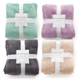 Flanelowe koc polarowy pluszowe miękkie ciepłe stałe Manta Cobertor Chusta biuro podróży domu małe narzuta na kanapę łóżko kanap