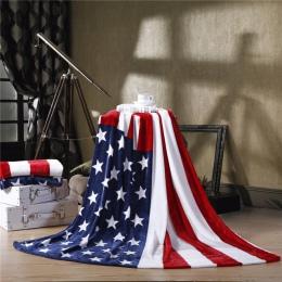 2018 brytyjska flaga/amerykańska flaga wielofunkcyjne koce miękki polar cienki Plaid drukuj sofa dmuchana rzut koc darmowa wysył