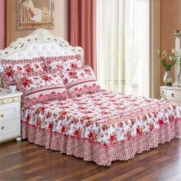 150*200 cm duszpasterski łóżko pokrywa jednolity łóżko okładka pościel łóżko bawełna pikowana koronki narzuta koronki prześciera