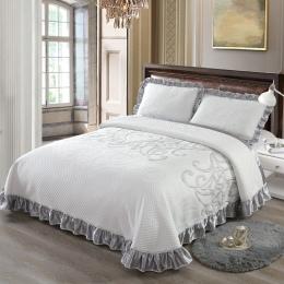 Nowe luksusowe łóżko rozprzestrzeniania się narzuta król Queen size zestaw narzut na łóżko materac topper koc poszewka couvre św