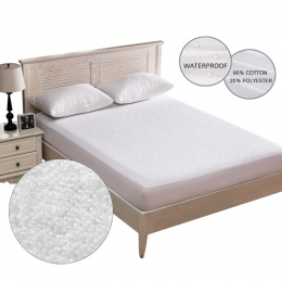 Bawełna Terry materac wodoodporny okładka łóżko miękka okładka materac osłona ochronna Anti-Mite biały prześcieradło przepuszcza