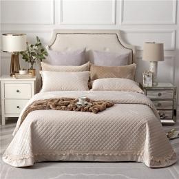 Beżowy fioletowy zielony, luksusowy, europejski styl tkanina z polaru narzuta poszewki na poduszki prześcieradło łóżko okładka k