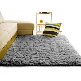Dywan z długim włosiem do salonu domu ciepłe pluszowe dywaniki podłogowe puszyste maty dla dzieci pokój Faux Fur obszar dywan ma