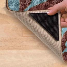 4 sztuk/zestaw wielokrotnego użytku, z możliwością prania, dywan dywan Mat chwytaki antypoślizgowe Tri naklejki Uchwyt silikonow