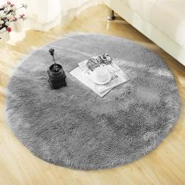 Puszyste okrągłe dywan dywany dla pokoju gościnnego Decor Faux futrzany dywan pokój dziecięcy długie pluszowe dywaniki do sypial