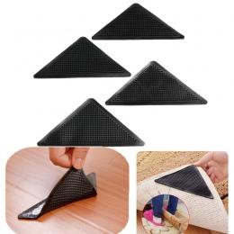 4 sztuk/zestaw wielokrotnego użytku, z możliwością prania, dywan dywan Mat chwytaki antypoślizgowe Uchwyt silikonowy do domu do