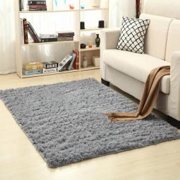 Super miękki jedwab dywanik wełniany kryty nowoczesne Shag dywan jedwabiście dywaniki sypialnia mata podłogowa dla dzieci przeds