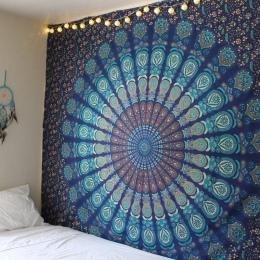 Nowy Indian Mandala gobelin Hippie Home dekoracyjne ścienne wiszące czechy plaża mata jogi mata narzuta obrus 210x148 CM