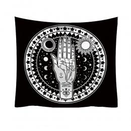 Mody gobelin świeży styl Tarrot słońce księżyc wzór koc Mandala czeski dekoracyjne ozdoba ściany hippie wystrój domu