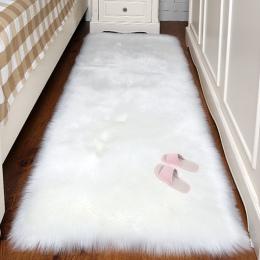 Sztuczna wełna dywan prostokąt/kwadratowy dekoracji Faux Mat poduszka na siedzenie zwykły skóry futra zwykły puszyste dywany zmy