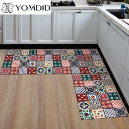 Kuchnia mata tańsze antypoślizgowe nowoczesne dywaniki salon balkon łazienka drukowane dywan wycieraczka przedpokój geometryczne