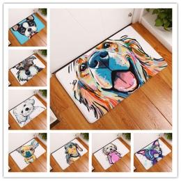 Nowy styl kreskówki piękny pies malarstwo psy drukuj dywany antypoślizgowa mata podłogowa na zewnątrz dywaniki zwierząt przednie