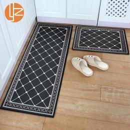 Yazi zmywalny wycieraczka wejściowa czarny śmieszne mata podłogowa kuchnia długi dywan na zewnątrz korytarz dywan przednie drzwi