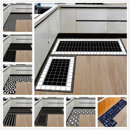 Nowoczesne geometryczne kuchnia mata antypoślizgowa dywan łazienkowy wejście do domu/korytarz drzwi maty szafa/balkon obszar dyw