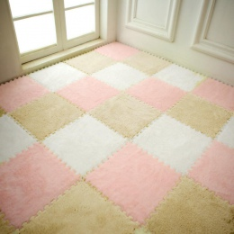 25*25 cm dzieci pianka dywan podkładka do puzzli EVA Shaggy Velvet dziecko Eco piętro 7 kolory dla pokoju gościnnego tapetes par