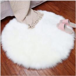 Miękkie sztuczne dywan z owczej skóry na krzesło sypialnia mata sztuczna wełna ciepły włochaty dywan wełny ciepłe Textil futro d