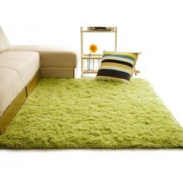 Miękkie dywan z długim włosiem dla pokoju gościnnego europejski domu ciepłe pluszowe dywaniki podłogowe puszyste maty dla dzieci