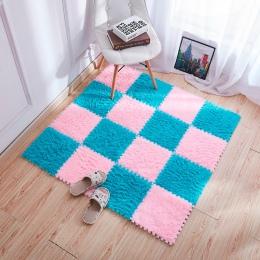 30x30 cm salon/dywan do sypialni Patchwork dywan dla dzieci pianka dywan podkładka do puzzli EVA długi puch dziecko Eco podłogi