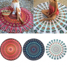 Okrągły mata Scarve Mandala gobelin plaża piknik rzut dywan koc czechy Grassplot maty LBShipping