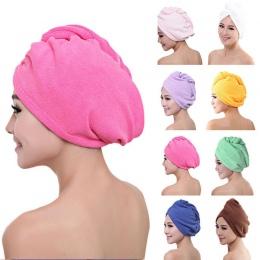 Najnowszy z mikrofibry po prysznicu suszarka do włosów Wrap kobiet dziewczyny Lady jest ręcznik szybkie suche włosy kapelusz cza
