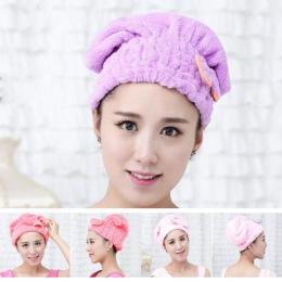 Nowy 5 kolor kolorowe czapka z daszkiem owinięte ręczniki z mikrofibry łazienka czapki jednolity Superfine szybko suche włosy ka