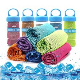 Ręcznik sportowy z mikrofibry szybkie chłodzenie lodu ręcznik do twarzy Quick-Dry ręczniki plażowe lato trwałe błyskawiczne chłó