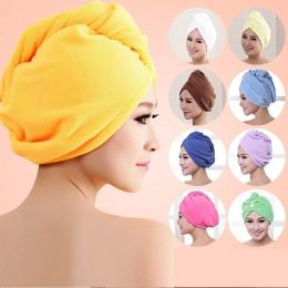 Kobiety łazienka Super chłonne szybkoschnący grubsze ręcznik kąpielowy z mikrofibry turban do suszenia włosów ręcznik salonowy