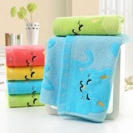 25*50 CM antybakteryjne nie skręcone ręcznik kąpielowy muzyka kot wzór łazienka akcesoria 1 sztuk z włókna bambusowego mycia ręc