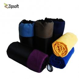 Zipsoft ręcznik sportowy plaży ręcznik z mikrofibry torba z siatki szybkoschnący koc podróżny pływanie Camping mata do jogi prez