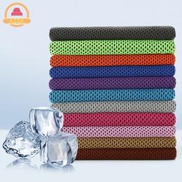 Drop shipping Sport ręcznik na lód 9 kolorów 90*30 cm narzędzie trwałe błyskawiczne chłodzenia ręcznik do twarzy ulga ciepła w c