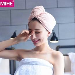 MIHE pani suchy ręcznik do włosów łazienka miękkie Super chłonne szybkoschnący ręcznik kąpielowy z mikrofibry turban do suszenia