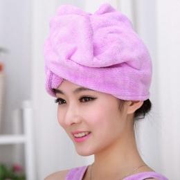 Koral aksamitne suche włosy ręcznik kąpielowy z mikrofibry szybkie suszenie Turban Super chłonne damskie Czepek do włosów Wrap z