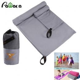 2 sztuk/zestaw ręcznik podróżny z mikrofibry soft skin szybkie pranie Super chłonne doskonałe ręcznik plażowy na siłowni pływani
