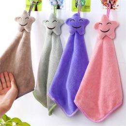 Cartoon Smile ręcznik dzieci ręcznik z mikrofibry ręcznik dla dzieci miękkie pluszowe tkaniny chłonne powiesić ręcznik kuchni ko
