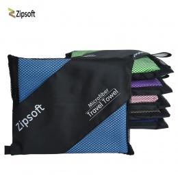 Zipsoft ręczniki plażowe dla dorosłych z mikrofibry kwadratowy materiał szybkoschnący podróżny ręcznik sportowy koc kąpielowy ba