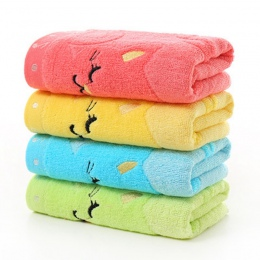 Hoomall 25*50 cm kreskówki dla dzieci ręcznik dziecięcy żakardowe haft nuty kot mały ręcznik do kąpieli w domu Mini dla dzieci r
