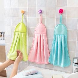 Ręcznik pluszowe przedszkole wiszące kuchnia łazienka gruby ściereczka ręcznik do wycierania bawełna bez oleju-Stick do mycia na