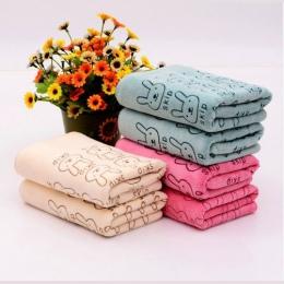 Cartoon chłonne ręcznik do mycia twarzy nano-z mikrofibry dla dzieci chusteczka mały ręcznik ładny królik styl losowy kolor
