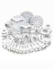 1/33 sztuk Sugarcraft ciasto dekorowanie narzędzia kremówka tłok frezy narzędzia Cookie herbatniki ciasto formy kwiat zestaw akc