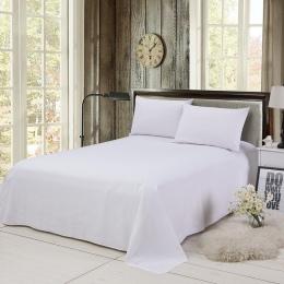 Pościel domowa klasyczne miękkie jednolity kolor łóżko okładka narzuty płaskie buty prześcieradło z poliestru dla Twin pełna kró