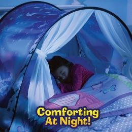 Nowy dinozaur statku kosmicznego sen składane chłopiec dziewczyna dzieci dla dzieci gwiazda namioty zimowe śnieg Starry i statek