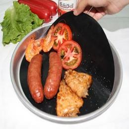 2 sztuk non-stick grill mata do grillowania Twin Pack Pan mata Teflon nieprzywierająca okrągła miska arkusz blachy narzędzie do