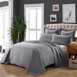 Bawełna narzuta pikowana król Queen size łóżko rozprzestrzeniania zestaw narzut na łóżko materac topper koc poszewka couvre świe