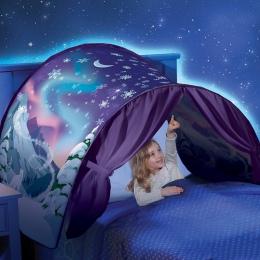 Dzieci namioty dziecko Up namiot z łóżkiem Cartoon Snowy składany Playhouse pocieszające w nocy spania na zewnątrz obozu Tipi