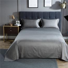 Jednolity kolor satynowy jedwabny miękkiej tkaniny powłoczki Queen Size pościel zestaw narzuta na łóżko arkusze koc zestaw