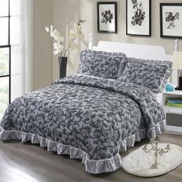 Grube narzuta pikowana król Queen size łóżko rozprzestrzeniania zestaw narzut na łóżko materac topper koc poszewka couvre świeci